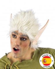 Weiße Perücke mit Elfen-Ohren