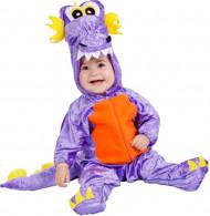 Drachenkostüm lila für Babys