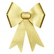 Glitzer-Schleife Weihnachtsdeko gold