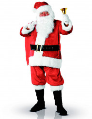 Edles Weihnachtsmann Kostüm für Erwachsene aus Plüschstoff