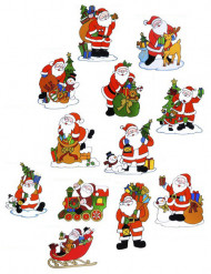 Fenster-Dekoration Weihnachtsmann