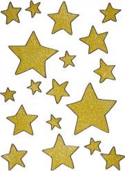 Fensterdeko goldene Sterne Weihnachtsdeko