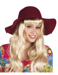 Sommerlicher Hut für Damen - bordeauxrot