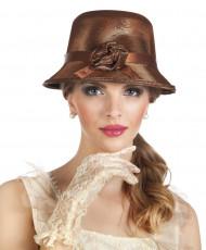 Brauner Hut 20er Jahre Charleston für Damen