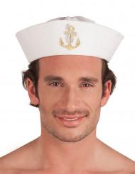 Seemanns-Hut für Erwachsene Matrose weiss