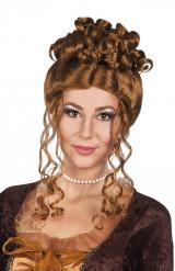 Braune Renaissance Perücke für Damen