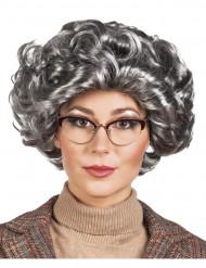 Graue Kurzhaar-Perücke für Damen