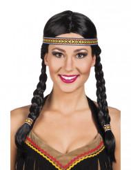 Indianerinnen Perücke für Damen