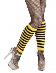 Beinstulpen schwarz gelb gestreift