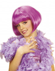 Kurzhaarbob Perücke Kabaret pink für Mädchen