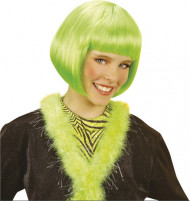 Kurzhaarbob Perücke Kabaret grün für Mädchen