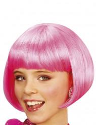 Kurzhaarbob Perücke Kabaret rosa für Mädchen