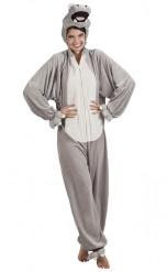 Nilpferd Kostüm für Erwachsene