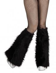 Beinstulpen aus Fell schwarz