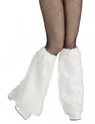 Beinstulpen aus Fell weiß