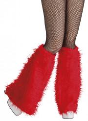 Beinstulpen aus Fell rot