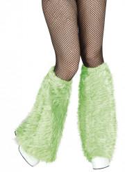 Beinstulpen mit grünem Fell