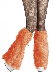 Beinstulpen aus Fell orange
