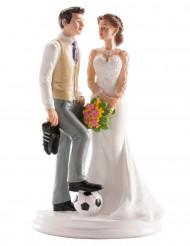 Fussball Brautpaar Figur für Torte
