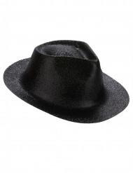Glitzer Party Hut schwarz für Erwachsene