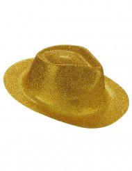 Glitzernder Party Hut gold für Erwachsene