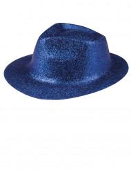 Glitzer Party Hut blau für Erwachsene