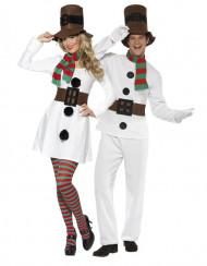 Schneemann Paarkostüm für Erwachsene