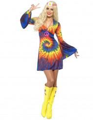 Buntes hippie Kostüm für Damen