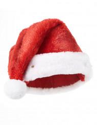 Santa Claus-Mütze leuchtend für Erwachsene weiss-rot