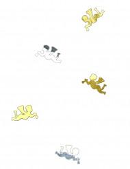 Konfetti goldene und silberne Engel 10g