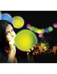 5 Illoms™-Ballons mit LED Lampen mehrfarbig