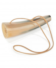 Schallhorn mit 15 cm langem Lederband