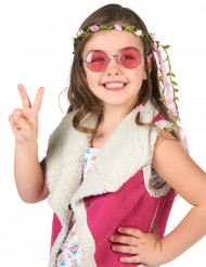 Blütenkranz weiß-rosa für Kinder