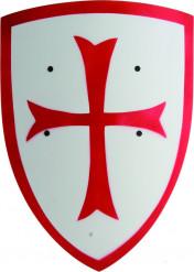 Kinder-Ritter-Schutzschild weiss-rot