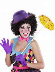 Kurze lila Handschuhe für Erwachsene