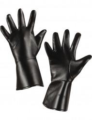 Unechte Lederhandschuhe schwarz für Kinder