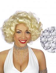 Halskette mit silbernen Perlen