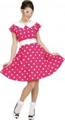 50er-Jahre Pünktchenkleid für Damen