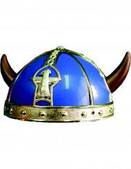 Gallier-Helm in blau und gold für Kinder