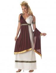 Römische Kaiserin Kostüm für Damen Antike bordeaux-weiß