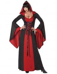 Teuflisches Kostüm mit Kapuze für Damen