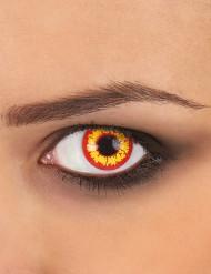 Kontaktlinsen rot-gelb