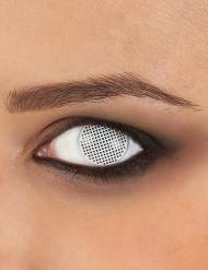 Kontaktlinsen weißes Gitter
