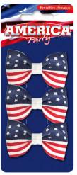 3 Haarstecker Amerika Flagge