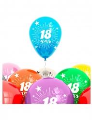 Beutel mit 8 Ballons mit der Aufschrift 18 Jahre