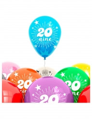 Paket mit 8 Luftballons für 20 Jahre