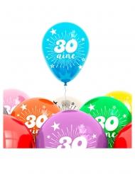 8 Ballons für den 30. Geburtstag