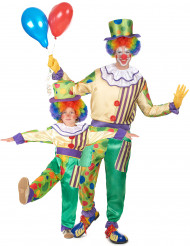 Clown Paarkostüm für Kind und Erwachsener