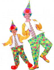 Clown Paar Kostüm für Vater-Sohn