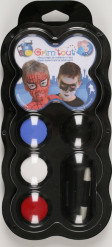 Superhelden Schminke 4 Farben - Grim
